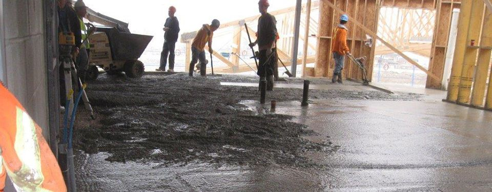 pouring concrete floor